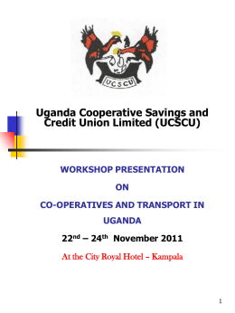 Uganda Cooperative Savings and Credit Union Limited