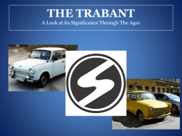 The Trabant in Transition