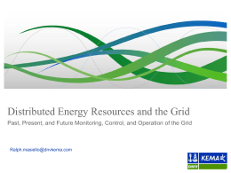 Distributed Energy Resources and the Grid