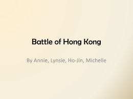 Battle of Hong Kong - Dr. Charles Best Secondary School Library