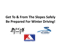 Survive the Drive! - Bay Area Snow Sports Council