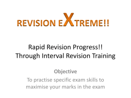 Rapid Revision Progress!! - science