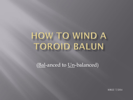 HOW TO WIND A TOROID BALUN