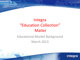Education collection - Integra Office Solutions