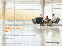Enabling the CLoud - AT&T Labs Research