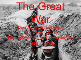 The Great War IB