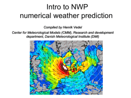 Introduction to NWP
