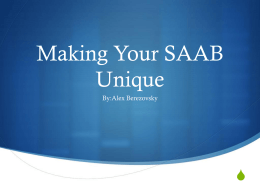 Making Your SAAB unique - The Saab Club of Canada