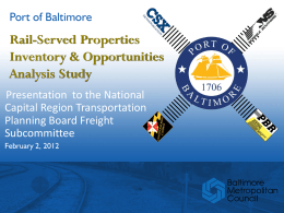 Port of Baltimore Rail Access Study