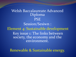Powerpoint element 4 kay issue 1 Renewable