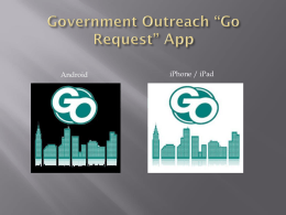 Government Outreach APP