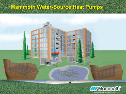 Mammoth WSHP - Coward Environmental Systems