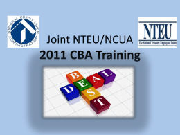 CBA Training Power Point [link]