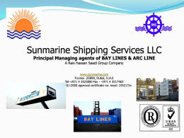 BAY LINES - Sunmarine Shipping Services LLC