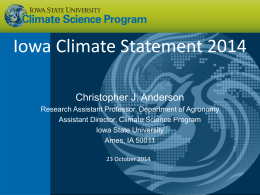 Iowa Climate Educators Forum_Climate Change in Iowa_Chris Anderson