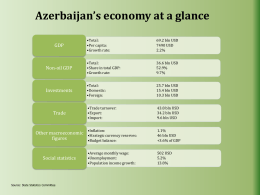 Azerbaijan`s Economy - Embassy of the Republic of Azerbaijan in