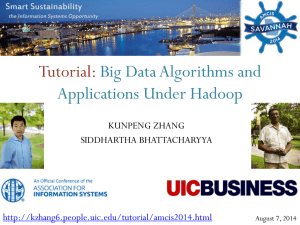 Big Data Algorithms and Applications Under