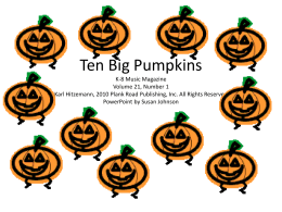 Ten Big Pumpkins - Bulletin Boards for the Music Classroom