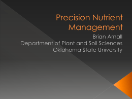 Precision Nutrient Management