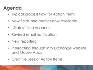 Action Item Nugget Webinar