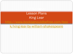 King Lear Lesson Plans