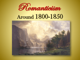 Romanticism - Saint John`s High School