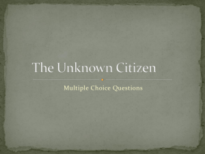 The Unknown Citizen Questions