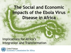 The Impact of EVD on Africa (Draft )