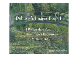 Debussy*s Images Book I