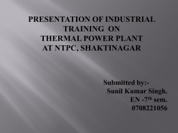 ppt on ntpc - 123SeminarsOnly