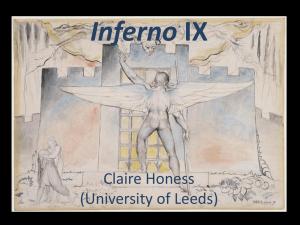 Inferno Canto IX lecture - University of St Andrews