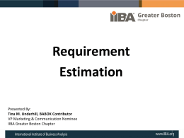 Meeting Slides - Boston Chapter of the IIBA