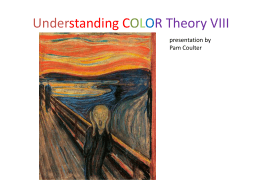 Understanding COLOR Theory III presentation by Pam Coulter