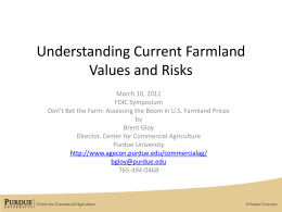 Session PowerPoint - Agricultural Economics
