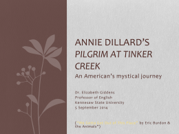 "Annie Dillard`s ""Pilgrim at Tinker Creek"""