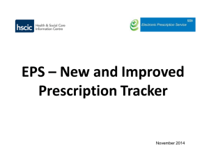 EPS Prescription Tracker (Presentation)