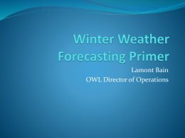 Winter Weather Forecasting Primer