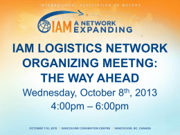 IAM Logistics Network Meeting