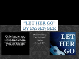 *Let Her Go* By Passenger