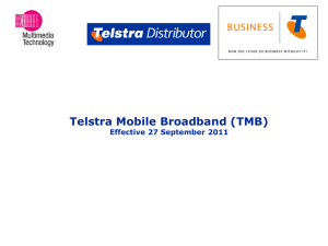 Telstra Mobile Broadband (TMB)