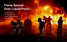 Definition Flame spread over liquid pools