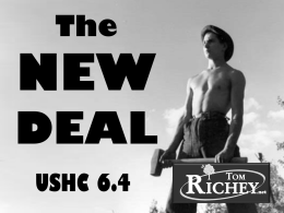 The New Deal (USHC 6.4)