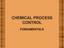 16 CHEMICAL PROCESS CONTROL FUNDAMENTALS