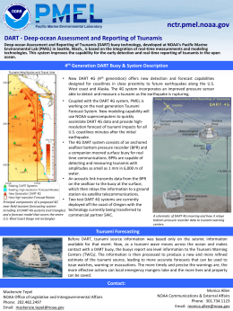 DART - Deep-ocean Assessment and Reporting of Tsunamis