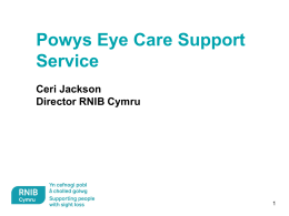 pptx - Wales Council for the Blind