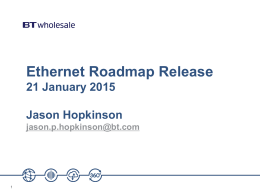 Ethernet roadmap release 21 January 2015 slides