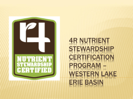 4R Nutrient Stewardship Certification Program