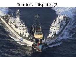 Territorial disputes -Sea - Senkaku