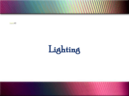 Lighting- section 5 - Larry Johnson Consulting Services