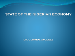 2. Performance of the Nigerian Economy